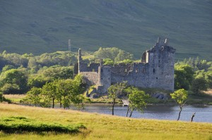 Kilchurn Castle near Glenstrae Scottish Holiday Lodge